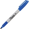 Sharpie Resilient Tip Permanent Marker - Fine Point Type - Blue Alcohol Based Ink - 1 Each