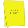 "C-Line Vinyl Report Cover - Letter - 8.50"" Width x 11"" Length Sheet Size - Vinyl - Yellow - 50 / Box"""