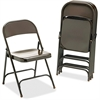 "Virco Metal Folding Chairs - Mocha - Metal - 17.8"" Width x 18.6"" Depth x 29.5"" Height"