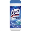 "Lysol Disinfecting Wipes - Ocean Fresh - 8"" x 7"" - White - Bleach-free, Alcohol-free, Disinfectant, Anti-bacterial, Pre-moistened - For Healthcare, School - 35 Sheets - 35 / Each"