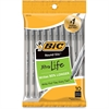 BIC Round Stic Ballpoint Pen - Medium Point Type - Black - 10 / Pack