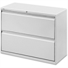 """Lorell Lateral File - 42"""" x 18.6"""" x 28.1"""" - 2 x Drawer(s) for File - Legal, Letter, A4 - Lateral - Rust Proof, Leveling Glide, Ball-bearing Suspension, Interlocking, Label Holder - Light Gray - Baked"""