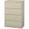 "Lorell Lateral File - 42"" x 18.6"" x 52.5"" - 4 x Drawer(s) for File - Legal, Letter, A4 - Lateral - Rust Proof, Leveling Glide, Interlocking, Ball-bearing Suspension, Label Holder - Putty - Baked Ename"