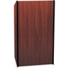 "AmpliVox Presidential Plus Lectern - 46.50"" Height x 25.50"" Width x 20.50"" Depth - Assembly Required - Laminated, Mahogany, Melamine"