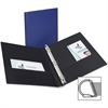 "Avery Ring Binder - Letter - 8 1/2"" x 11"" Sheet Size - Ring Fastener - 2 Internal Pocket(s) - Blue - Recycled - 1 / Each"