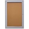 """Ghent 1-Door Enclosed Indoor Bulletin Board - 36"""" Height x 24"""" Width - Cork Surface - 1 Each"""