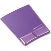 "Fellowes Wrist Support Mouse Pad - 9.9"" x 8.3"" x 0.9"" Dimension - Purple - Gel, Polyurethane"
