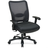 "Office Star Space Task Chair - Leather Seat - 5-star Base - Black - 22"" Seat Width x 21"" Seat Depth - 30.3"" Width x 28.8"" Depth x 44.5"" Height"
