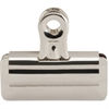"Sparco Bulldog Clip - 2.6"" Length x 3"" Width - 12 Pack - Silver - Steel"