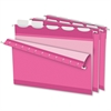 "Pendaflex ReadyTab Hanging File Folder - Letter - 8 1/2"" x 11"" Sheet Size - 1/5 Tab Cut - Poly - Pink - 20 / Box"