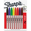Sharpie Permanet Marker - Fine Point Type - Assorted Alcohol Based Ink - 8 / Pack