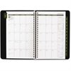 "At-A-Glance Appointment Book - Julian - Weekly - January 2017 till December 2017 - 8:00 AM to 5:00 PM - 1 Week Double Page Layout - 4.88"" x 8"" - Desk Pad - Black - Tabbed, Phone Directory, Address Dir"
