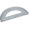 "CLI 6"" Open Center Protractor - Plastic - Clear"