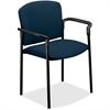 "HON Pagoda 4070 Series 4071 Stacking Chair - Polyester Mariner, Acrylic Seat - Metal Black Frame - Mariner - Polyester Fabric, Acrylic - 20.25"" Seat Width x 19.75"" Seat Depth - 27.3"" Width x 22.5"" Dep"