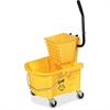 Genuine Joe Splash Guard Mop Bucket/Wringer - 26 quart - Black