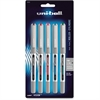Uni-Ball Vision Rollerball Pen - Fine Point Type - 0.7 mm Point Size - Assorted - 5 / Pack