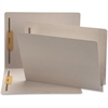 "Smead End Tab Colored Fastener Folders with Shelf-Master® Reinforced Tab - Letter - 3/4"" Expansion - 2 Fastener(s) - 2"" Fastener Capacity for Folder - 11 pt. Folder Thickness - Gray - Recycled - 5"