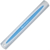 "Westcott Soft Touch Ruler - 12"" Length - 1/16 Graduations - Metric, Imperial Measuring System - 1 Each - Blue"