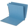 "SJ Paper End Tab Classification Folder - Letter - 8 1/2"" x 11"" Sheet Size - 2 1/4"" Expansion - 1"" Fastener Capacity for Folder - 6 Divider(s) - 15 pt. Folder Thickness - Blue - Recycled - 25 / Box"