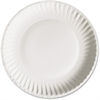 "AJM Green Label Plate - 6"" Diameter Plate - Paper - Microwave Safe - White - 1000 Piece(s) / Carton"