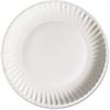 "AJM Green Label Plate - 6"" Diameter Plate - Paper - Microwave Safe - White - 1000 Piece(s) / Carton"