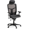"Lorell High-Back Mesh Chair - Mesh Black Seat - Mesh Back - Plastic, Steel Frame - Black - 28.5"" Width x 28.5"" Depth x 51"" Height"