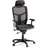 "Lorell High-Back Mesh Chair - Mesh Black Seat - Mesh Back - Plastic, Steel Frame - Black - 28.5"" Width x 28.5"" Depth x 51"" Height"