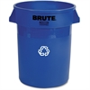 "Rubbermaid Heavy-duty Recycling Container - 32 gal Capacity - 27.3"" Height x 22"" Width x 22"" Depth - Blue"