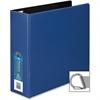 "Wilson Jones Single Touch Locking D-Ring Binder - 3"" Binder Capacity - Letter - 8 1/2"" x 11"" Sheet Size - 750 Sheet Capacity - 3 x D-Ring Fastener(s) - 2 Inside Front & Back Pocket(s) - Vinyl - Blue -"