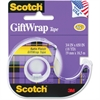 "Scotch Gift Wrap Tape in a Dispenser - 0.75"" Width x 54.17 ft Length - 1"" Core - Dispenser Included - Handheld Dispenser - 1 Roll - Clear"