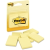 "Post-it Notes, 1.5 in x 2 in, Canary Yellow - 300 - 1.50"" x 2"" - Rectangle - 50 Sheets per Pad - Plain - Canary Yellow - Paper - Self-adhesive - 6 Pad"