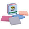 "Post-it Post-it Super Sticky Recycled Notes, 3 in x 3 in, Bali Color Collection - 390 - 3"" x 3"" - Square - 65 Sheets per Pad - Unruled - Assorted - Paper - Self-adhesive - 6 Pad"