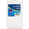 "Avery File Folder Label - Permanent Adhesive - 0.63"" Width x 2.75"" Length - Rectangle - White - 156 / Pack"