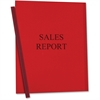 "C-Line Vinyl Report Cover with Binding Bars - Letter - 8.50"" Width x 11"" Length Sheet Size - Vinyl - Red - 50 / Box"""