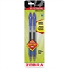 Zebra Pen Sarasa Gel Pen - Medium Point Type - 0.7 mm Point Size - Refillable - Blue Pigment-based Ink - Translucent Barrel - 2 / Pack