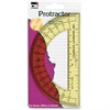 CLI 6'' Open Center Protractor - Plastic - Assorted