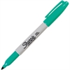 Sharpie Pen Style Permanent Marker - Fine Point Type - Point Point Style - Aqua Alcohol Based Ink - 1 Each