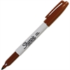 Sharpie Pen Style Permanent Marker - Fine Point Type - Point Point Style - Brown Alcohol Based Ink - 1 Each