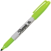 Sharpie Pen Style Permanent Marker - Fine Point Type - Point Point Style - Lime Alcohol Based Ink - 1 Each