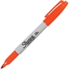 Sharpie Pen Style Permanent Marker - Fine Point Type - Point Point Style - Orange Alcohol Based Ink - 1 Each