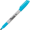 Sharpie Pen Style Permanent Marker - Fine Point Type - Turquoise Alcohol Based Ink - 1 Each
