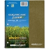 """Roaring Spring 1-Subject Wirebound Notebook - 100 Sheets - Printed - Wire Bound 9"""" x 11"""" - Assorted Cover - Recycled - 1Each"""