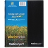 "Roaring Spring 2-Subject Wirebound Notebook - 100 Sheets - Printed - Wire Bound 9"" x 11"" - Assorted Cover - Recycled - 1Each"