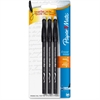 Paper Mate Erasermate Ballpoint Pen - Medium Point Type - Black - 3 / Pack