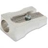 Baumgartens Compact Pencil Sharpener - Handheld - 1 Hole(s) - Metal - Silver