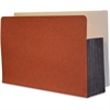 "Kleer-Fax Extra Heavy-duty Shelf File Pocket - Legal - 8 1/2"" x 14"" Sheet Size - 3 1/2"" Expansion - Red Fiber - Recycled - 1 Each"