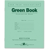 "Roaring Spring Examination Green Book - 8 Sheets - Printed - Stapled 7"" x 8.50"" - Green Paper - Green Cover - Recycled - 50 / Pack"