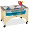"Jonti-Craft See-Thru Sensory Play Table - 24.50"" Height x 37"" Width x 23"" Depth - Assembly Required - Baltic, Clear"