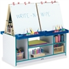 Rainbow Accents 4 Station Art Center - Freckled Gray, Teal Stand - Floor Standing - Assembly Required - 1 Each