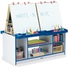 Rainbow Accents 4 Station Art Center - Freckled Gray, Blue Stand - Floor Standing - Assembly Required - 1 Each